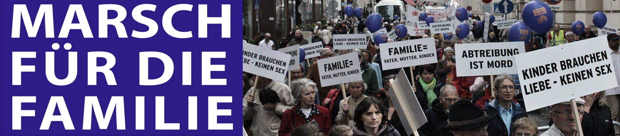 Marsch für die Familie